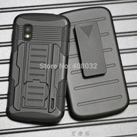 Heavy Duty Stand Case Cover For LG NEXUS 4 E960 Phone Cover Case for E960 Armour phone cover case for LG NEXUS 4