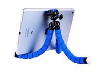 Free shipping Flexible Mini Tripod Cell Phone Smartphone Pocket Camera Clips Holder octopus tripod + cellphone holder