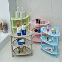 3 colors 3 layer Triangle bathroom shelving racks plastic bathroom toilet kitchen storage Shelves free shipping