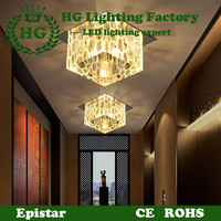 large , modern and fashionable LED crystal ceiling light, applicable for corridors,porches and walkways