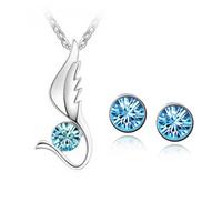 Accessories set crystal necklace  set rhinestone accessories set jewelry