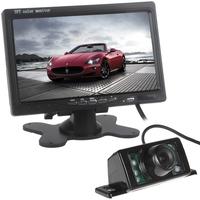 2014 New 7 Inch 800 x 480 RGB Digital Display Car VCR Monitor + 170 Degree Viewing Angle 7 IR Lights Car Rear View Camera