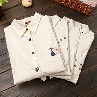 2014 Women Vintage blouse fashion clothes ladies blouse & shirts embroidery roupas blusas femininas vestidos casual blusas