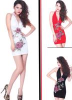 Fashion vintage one-piece dress ktv princess clothing plus size clothing one-piece dress 2014 women's