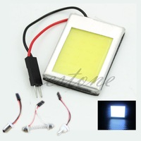 T10 24 12V SMD LED Panel Interior White Dome Car Lights Lamp Adapters free shipping