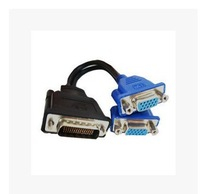 DMS-59 MALE to 15PIN VGA FEMALE cable DMS Dual Monitor System 59 to Dual VGA Video Cable 59pin DVI TO 2*VGA