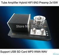 Tube Amplifier Hybrid HIFI 6N3 Preamplifier 2 x 15W Support USB SD Card MP3 WMA