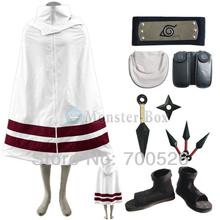 Naruto Cloak Cosplay Costume Sasuke Sakura Kakashi Ninja Uniform Headband Pockets Props Shoes Whole Set Unisex Mens Women