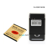 2430mAh Gold Replacement Battery + Wall Charger For Sony Ericsson Pro MK16I Neo MT15I Neo V MT11I Ray ST18I LT16I BA700
