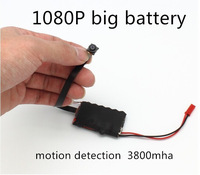 1080P big battery full hd camera hidden camera PC1 motion detection mini dvr 15cm long lens 2.4G remote control 3800mha 10 hours