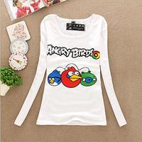 Cheap Price Women Clothes,Lady's Long Sleeve T-shirt,Female Cotton Cartoon Casual Autumn T-shirt Free Shipping