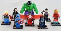 Set 8 Super Hero Hulk Minifigures Avengers Blocks Building Toys N/Box #i61 5-60