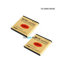 2x 2430mAh Gold Business Replacement Battery For Sony Ericsson Pro MK16I Neo MT15I Neo V MT11I Ray ST18I LT16I BA700