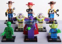 Set 8 Toy Story Cartoon Woody Buzz Minifigures Minifigs Blocks Building Toys i72