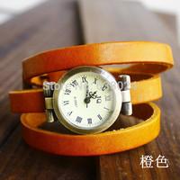 100pcs/lot,new design leather wristwatch,hot sale morden leather woman dress watch,wrap around long quartz wristwatches.