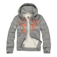 Free Shipping! 2014 New Men Fleece Hoodies/ Men Sweatshirts /lover Hoodies  Cotton Covered Button 9005