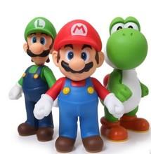 2014 Retail Free shipping 3pcs/set Super Mario Bros Luigi Mario Action Figures Toys Doll Free shipping(China (Mainland))