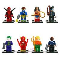 Set 8 Super Heroes Wonder Woman Catwom Minifigures Blocks Building Toys N/Boxi78
