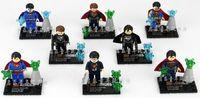 Set 8 Super Man Super Hero Minifigures Assembled Blocks Building Toys N/Box #i87