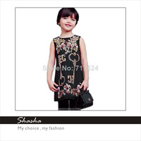 2014 Famous brand D designers G princess royal dress girls party dresses kids vintage clothes children clothing Italy style