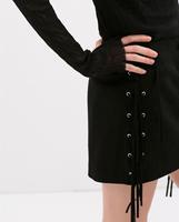 2014 Europe fashion skirt women black&kakhi color sexy fringed tassel skirts high quality elegant woman skirt