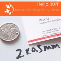100PCS,Super Powerful Strong Neodymium Disc Magnets DIA 2x0.5mm  N35 Neodymium Magnet Rare Earth