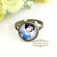 Free shipping Princess Snow white Girl's Ring, kids Girls Jewelry