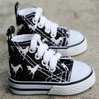 1/4 Black Mid Horse BJD MSD AOD DOD DZ LUTS Dollfie Doll Shoes Sneaker