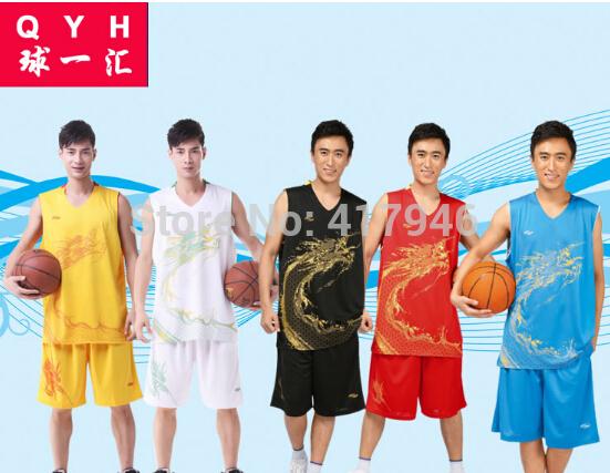 New 2014 Basketball Suit (jacket + shorts) Male Custom Big Yards Sportswear Group Buying Men Basketball Jersey XL-5XL tk1168(China (Mainland))