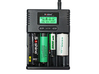 Soshine H4 LCD Universal Lithium Battery Charger Li-ion NiMH LiIFePO4 Battery Charger for 14500 18350 18650 26650 AA AAA C