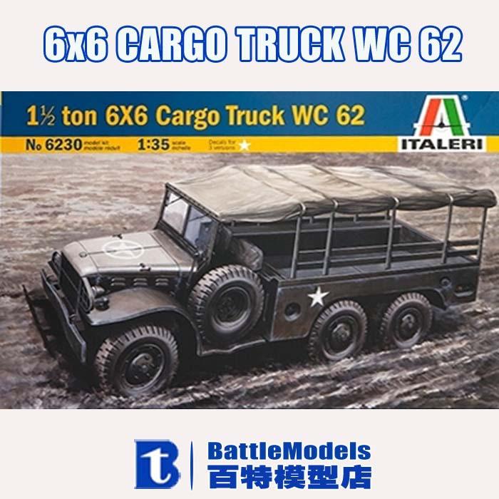 ITALERI MODEL 1/35 SCALE military models #6230 6x6 CARGO TRUCK WC 62 plastic model kit(China (Mainland))