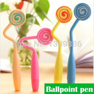 (12 pezzi/sacco), dolciumi nuovo lecca lecca colorati arbitrariamente curvo ultra realistico penna a sfera cartoon
