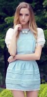 Free shipping 2014 summer new women skirt suit,clothing set,women fashion short sleeves O-neck blouse and bud skirt