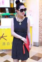Fashion New 2014 women summer tops Fashion Dress woman black clothings free shipping LYQ008-17
