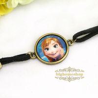 24pcs/lot Frozen princess Anna charms bracelet,Vintage Love bracelet time gem bracelet