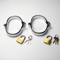 Luxury Male/Female Stainless Steel Restraint Slave Wrist Restraint manacle locks sex toys