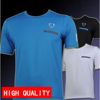 New arrival 2014 Men quick-dry Jersey casual shirt Sport T-shirt cycling slim fit plus size M-XXL free shipping wholesale LSL023