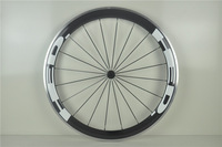 EMS free shipping 50mm superlight clincher wheels full carbon 700C aluminum braking surface carbon wheel