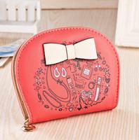 Promotion!pRINTING fashion ZipperCoinWallet fashioncoinpurses purse cute coinpurse bag women wallets.