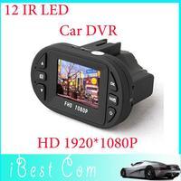 Mini Size HD 1920*1080P 12 IR LED Car Vehicle CAM Video Dash Camera C600 Recorder Russian Car DVR  Free Shipping 2013 Ne boy toy