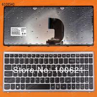 Freeshipping !  US Letter keyboard for LENOVO Z500 SILVER FRAME BLACK(Win8)