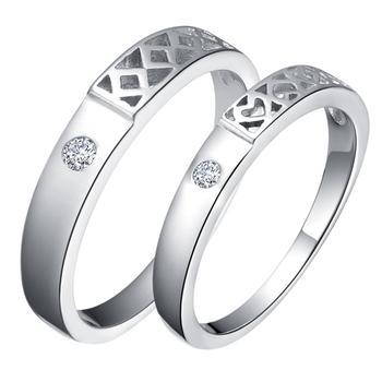 Оптовые 2шт Серебро 925 Любовь Обручальные кольца для мужчин и женщин Finger Ring Anillos Анель Masculino корейский Украшения Ulove J485