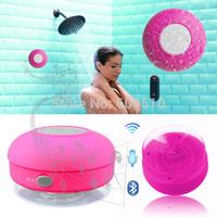 Waterproof Portable Wireless Bluetooth 3.0 Mini HIFI Speaker Shower Pool Car  handsfree  Mic  6 color option
