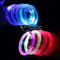 Free shipping,10pcs/lot, LED Flash Blinking Color Changing Party Bracelet ,glowing Acrylic Bracelet Bangle for KTV party
