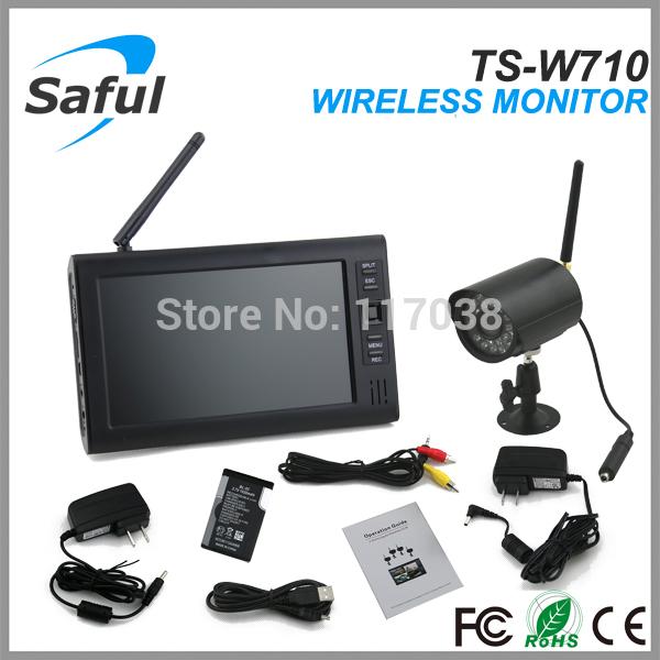 7 inch TFT Digital 2.4G wireless Cameras Audio Baby Video Monitor With IR night light Camears(China (Mainland))