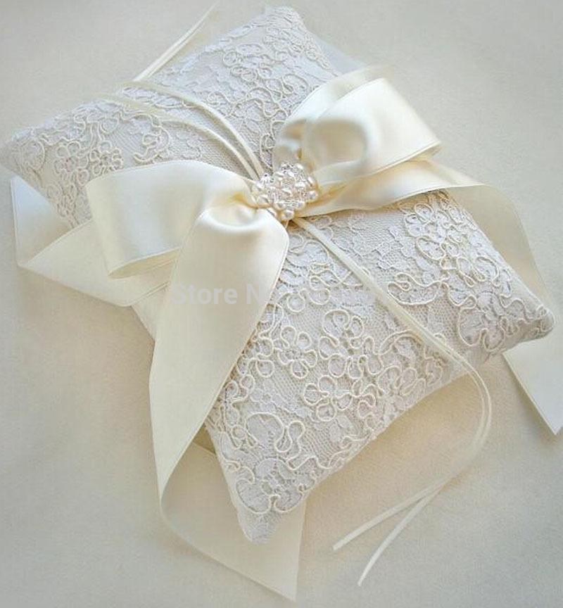 Modernbride ring pillow senior lace wedding ring pillow france free shipping(China (Mainland))