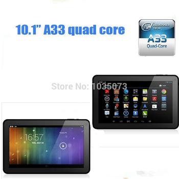 1 шт. с сообщение бесплатная доставка 10 дюймов андроид 4.4 1 ГБ оперативной памяти 8 ГБ ROM AllWinner а33 нескольких языков четырехъядерный процессор bluetooth планшет пк