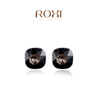ROXI Brand 8.19 Big Sales Item Dangle earrings bijoux crystal Pink Crystal earrings accessories Platinum gold Plated jewelry