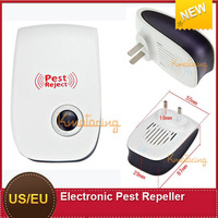 Free Ship Ultrasonic Mosquito mosquito repeller  electronic pest repeller  EU /US plug Insect Mouse