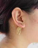 new arrive punk   gold alloy wings of an angel  stud earring